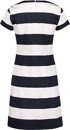 Betty Barclay sukienka w etui, kolor: ciemnoniebieski/biały , rozmiar: 40: Odzież
