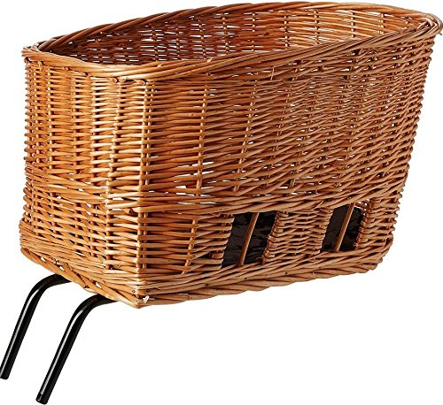Wicker Pet Bicycle Basket (Basil Pasja Rear Bike Pet Basket - Wicker - 40cm)