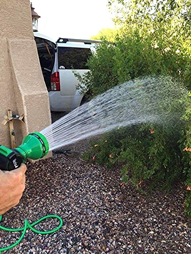 ikris Metal Garden Hose Nozzle 10-Pattern No-Squeeze Sprayer