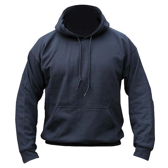 Mens Army Combat Military Hooded Hoodie Sweat Shirt Feece Track Skate Top Black