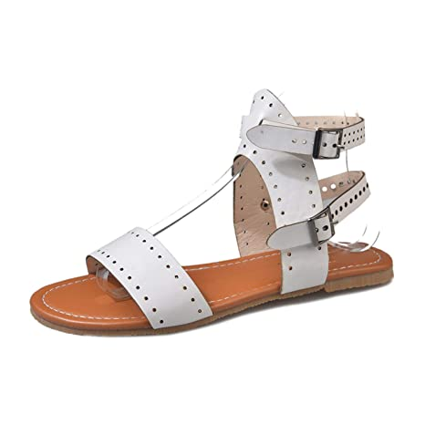 30bb2dbba Image Unavailable. Image not available for. Color  Beach Sandals Fashion  Ladies Woman Shoes New Summer Roman ...