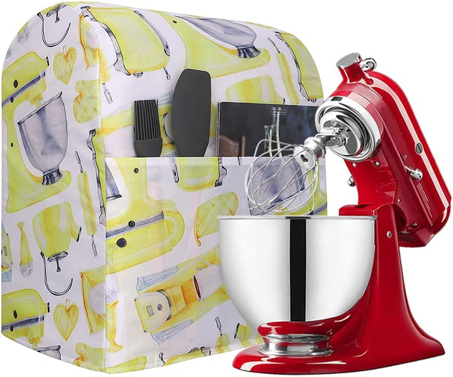 Stand Mixer Cover Compatible For All Kitchenaid Mixers,5-8 Quart Mixer Dust Cover Fits All Tilt Head & Bowl Lift Models, Kitchen Aid Mixer Storage Bag With 1 Spacious Pocket (Y11)