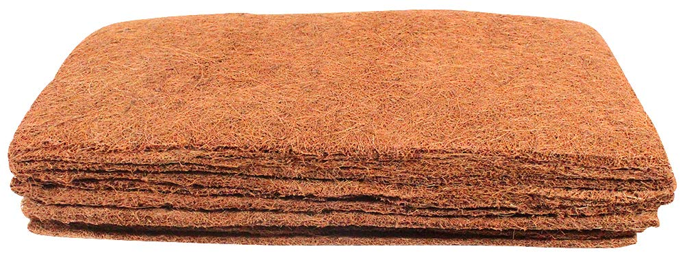 Envelor Coco Fiber Grow Mats Coir Mulch Mats Plant Cover Protector Coconut  Husk Outdoor Planters for Hydroponics Seed Starter Microgreens Wheatgrass