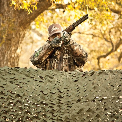 Red Rock Outdoor Gear Big Game Camouflage Field Series Nets for Hunting Blinds, Matte Brown/Matte Green, 8 x 20-Feet
