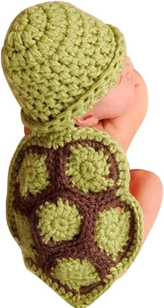 QinMM Bebé recién Nacido Accesorios de Fotos Disfraz Punto Crochet ...