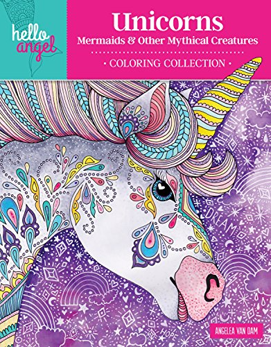 - Hello Angel Unicorns, Mermaids & Other Mythical Creatures Coloring Collection (Design Originals) 32 Beautiful Designs, including Fairies, Rainbows, a Pegasus, & More, Plus a 16-Page Artist's Guide