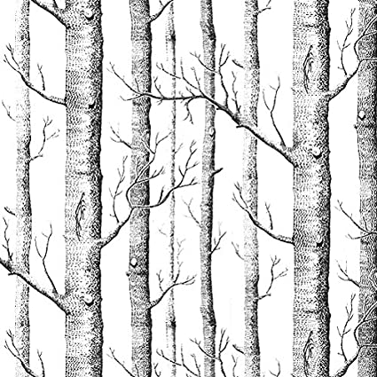 SOLEDI Wall Stickers Textured Tree Forest Woods Non Woven Mural Paper Background Wallpaper Covering Roll
