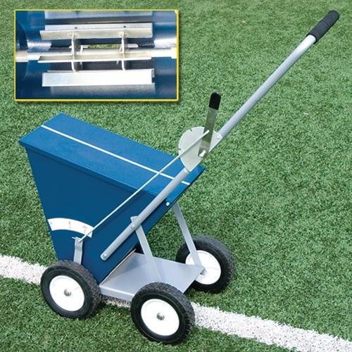 Image of Alumagoal All-Steel Dry Line Marker, 4-Wheel Field Marking Equipment