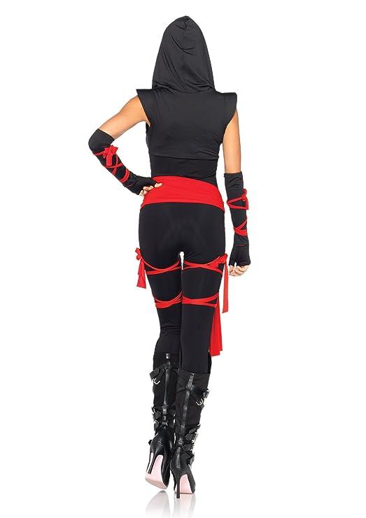 Amazon leg avenue costumes 5 piece deadly ninja costume clothing solutioingenieria Image collections