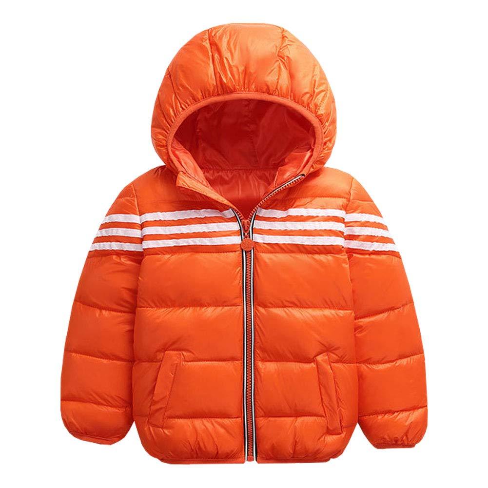 M&A Kids Boys Lightweight Hooded Puffer Down Jacket Packable Winter Coat
