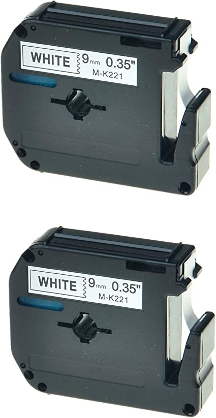 3PK Black On White Label Tape M-K221 MK221 For Brother P-Touch PT-70BBVP 9mm