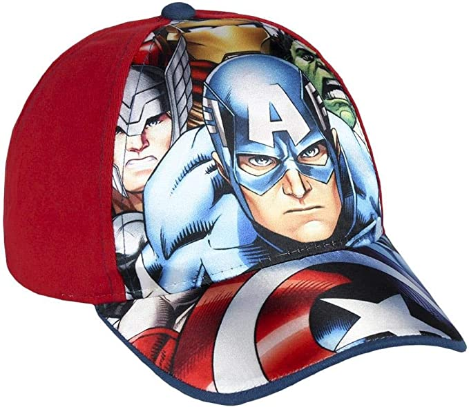 Avengers Marvel cappello Premium con visiera Bambino Baseball tg 52 i 54 rosso