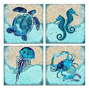 61mGACJMkpL._SS300_ Seahorse Wall Art & Seahorse Wall Decor
