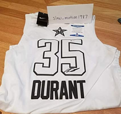 340116dc23dc Image Unavailable. Image not available for. Color  Kevin Durant Autographed  Signed Nike 2018 NBA All-Star ...