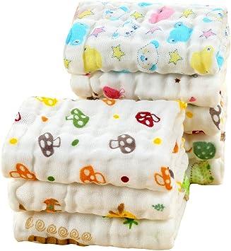 LOVARTS BEAUTY - Toalla de mano de muselina para bebé, 6 capas ...