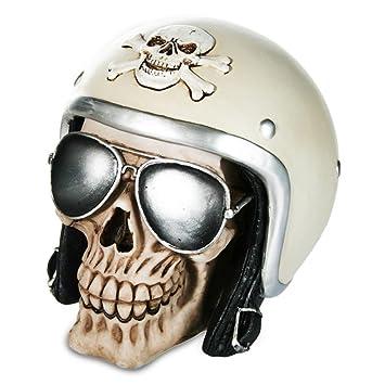 Spardose Spar Dose Totenkopf Totenschadel Skull Biker Motorradhelm