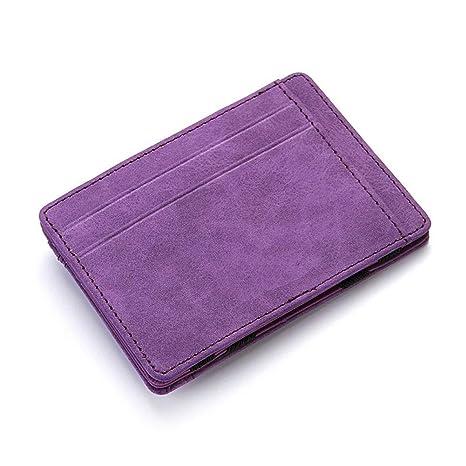 LIILLZ Ultra Thin Mens PU Leather Wallet Mini Magic Carteras ...