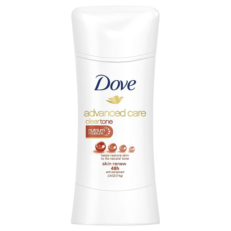 Dove Advanced Care Antiperspirant ClearTone Skin Renew 2.6 oz (Pack of 6)
