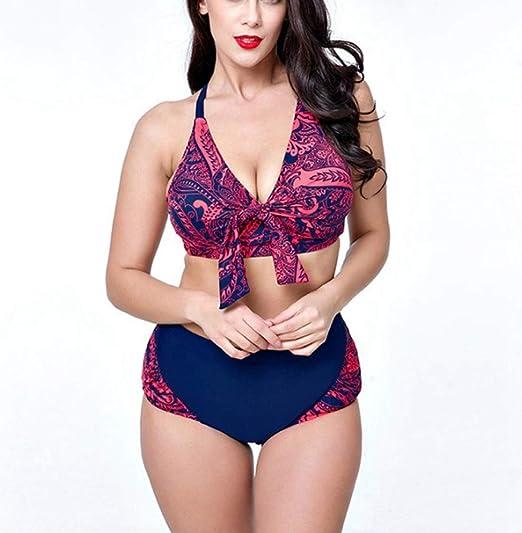 HOUYAZHAN Bikini para Mujer Top de Surf Traje de baño de Dos ...