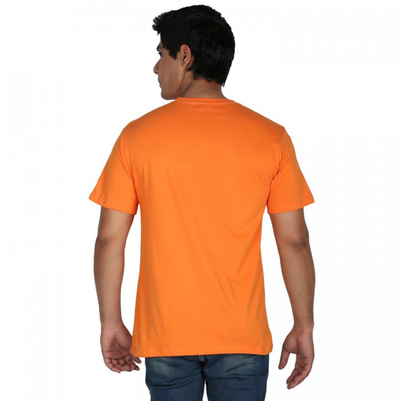 Trendster Bol Bam Printed Orange Round Neck Men's Tshirt