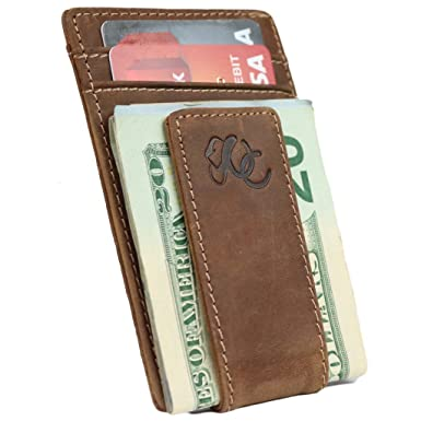 e1aa28d16f70 Mens Front Pocket Wallet with Money Clip by Urban Cowboy – Genuine Leather
