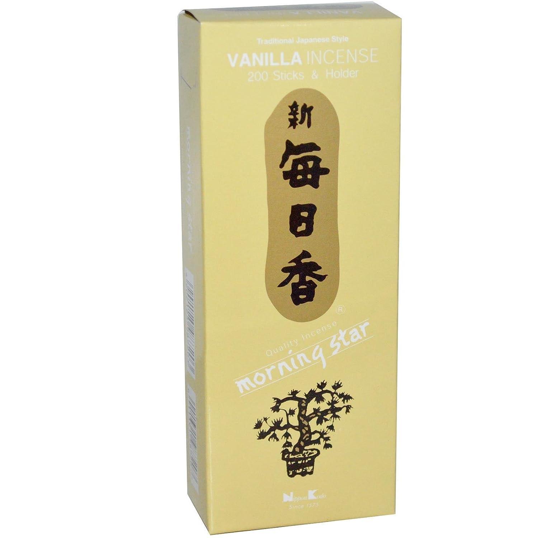 Morning Star, Incenso Alla Vaniglia, 200 Bastoni & Titolare Nippon Kodo 98720