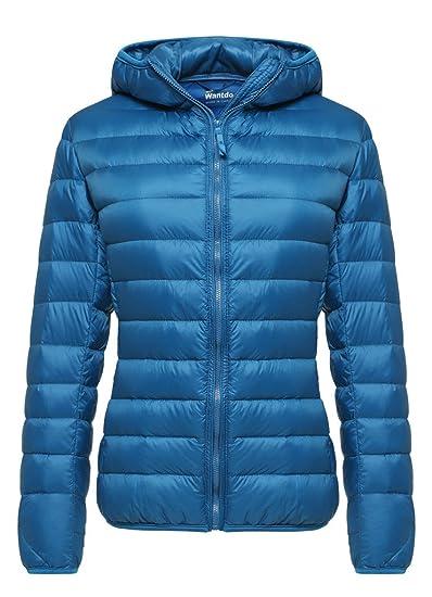 27203f09f84 Wantdo Women's Hooded Packable Ultra Light Weight Short Down Jacket