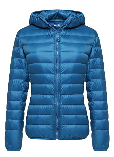 Wantdo Womens Hooded Packable Ultra Light Weight Short Down Jacket