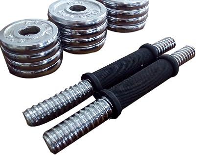 Ducomi® Arnold – Juego de 2 mancuernas de entrenamiento Componibili con 12 discos de metal