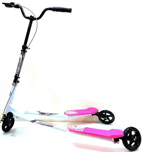 Patinete Speeder 3 ruedas Rosa/Blanco, ruedas 125 mm. tipo Reflexx
