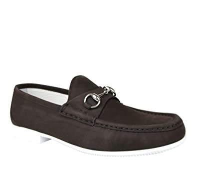 a3187beb268 Gucci Moccasin Dark Brown Suede Horsebit Loafer 337060 BHO00 2140 (7.5 G    8.5 US