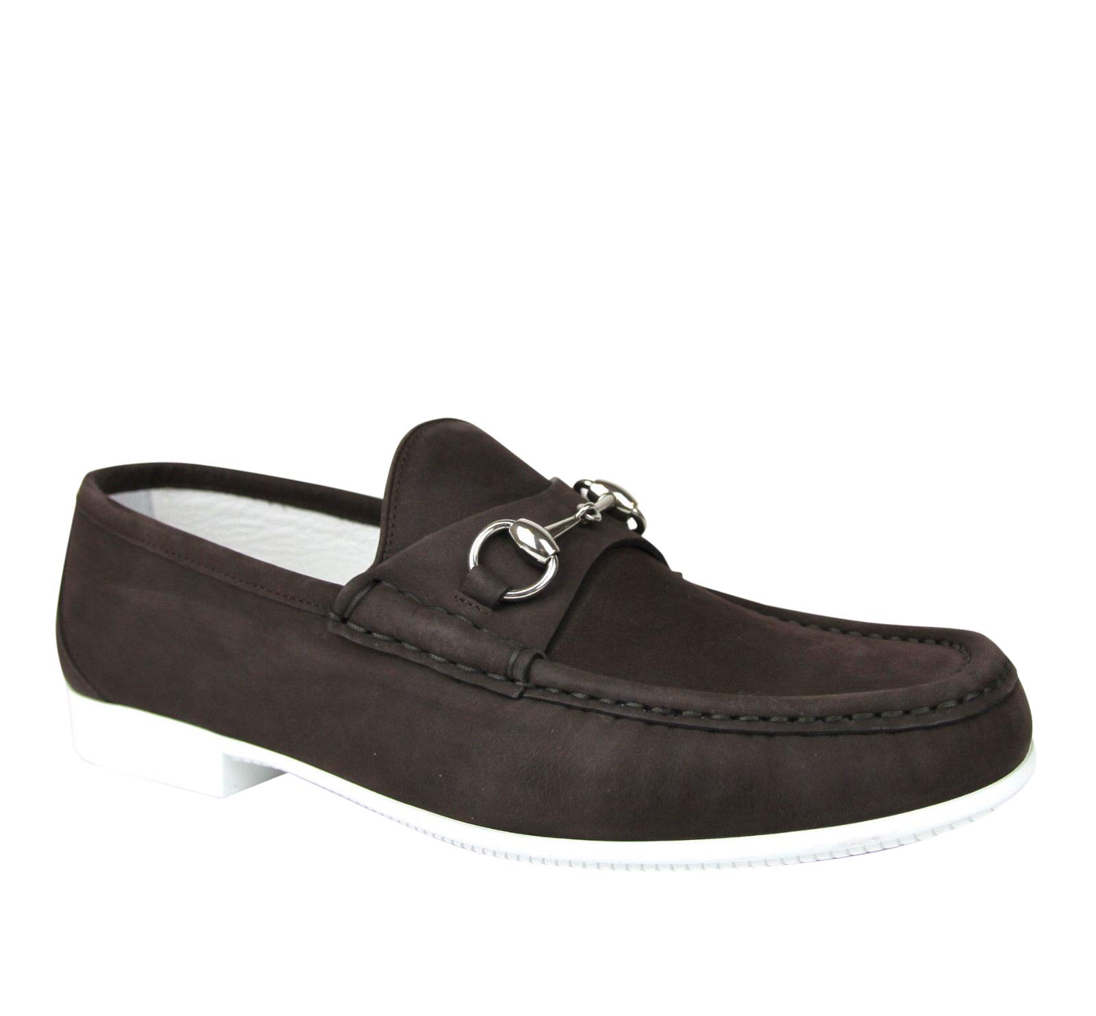 790c3f9c6c9 Gucci Moccasin Dark Brown Suede Horsebit Loafer 337060 BHO00 2140 (8 G   9  US)