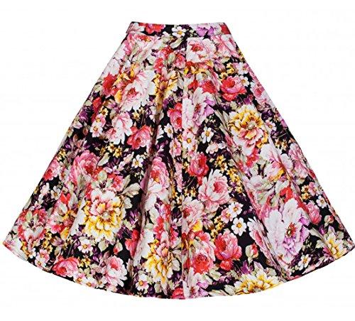60s Plaid Skirt (DAROJ Women's 50s 60s Classy Retro Style Floral/ Plaid/ Checkered/ Stripes Skirts XXXL Muilti-7)