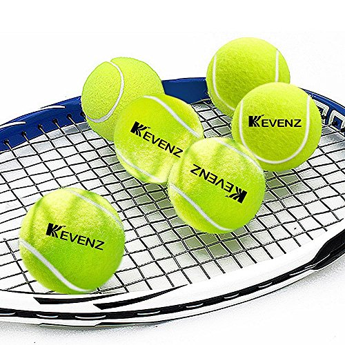 KEVENZ 24-Pack Green Advanced Training Tennis Balls,Practice Ball (Interlocked Wool Fiber) by KEVENZ (Image #4)