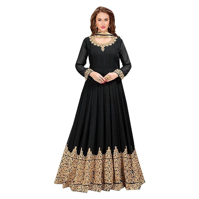 ETHNIC EMPORIUM Black Abito su misura per abito lungo musulmano Anarkali  Salwar Kameez Abito da sposa 96766567432