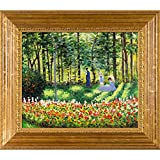 overstockArt Claude Monet La Famille D'artiste 20-Inch by 24-Inch Framed Oil on Canvas