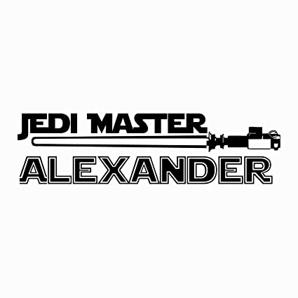 Jedi Master Name Decal Star Wars Decal Quote Vinyl Wall Decals Sticker  Custom Personalized Name Decor Kids Teens Boys Room Nursery Art x74