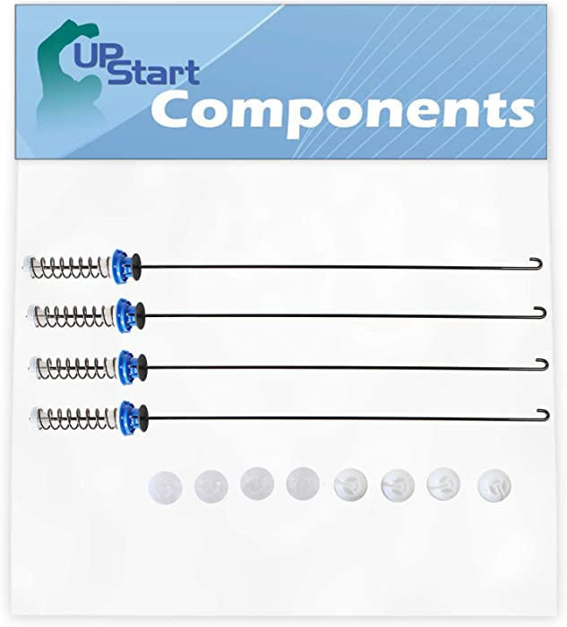 W10820048 Washing Machine Suspension Rod Kit Replacement for Whirlpool WTW6200VW0 Washer - Compatible with W10189077 Suspension Spring Kit - UpStart Components Brand
