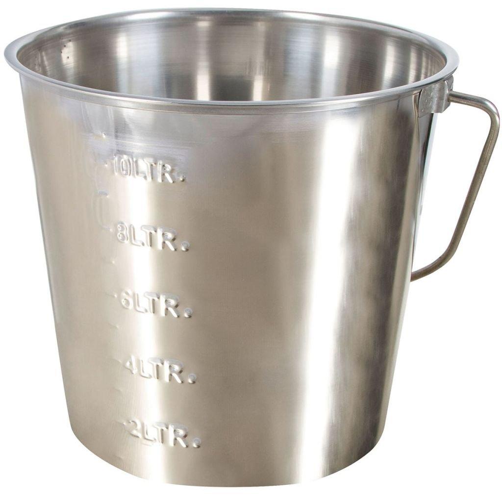 runde Ausf/ührung Kerbl Aluminium-Abwiegeschaufel