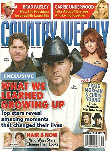 Tim McGraw/Reba McEntire/Blake Shelton l Craig Morgan & Chris Young l Kellie Pickler l Brad Paisley l Carrie Underwood - December 14, 2009 Country Weekly