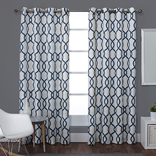 Exclusive Home Kochi Linen Blend Grommet Top Window Curtain Panels 54