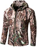 Camo Coll Men's Outdoor Soft Shell Hooded Tactical Jacket (XL, Tree)