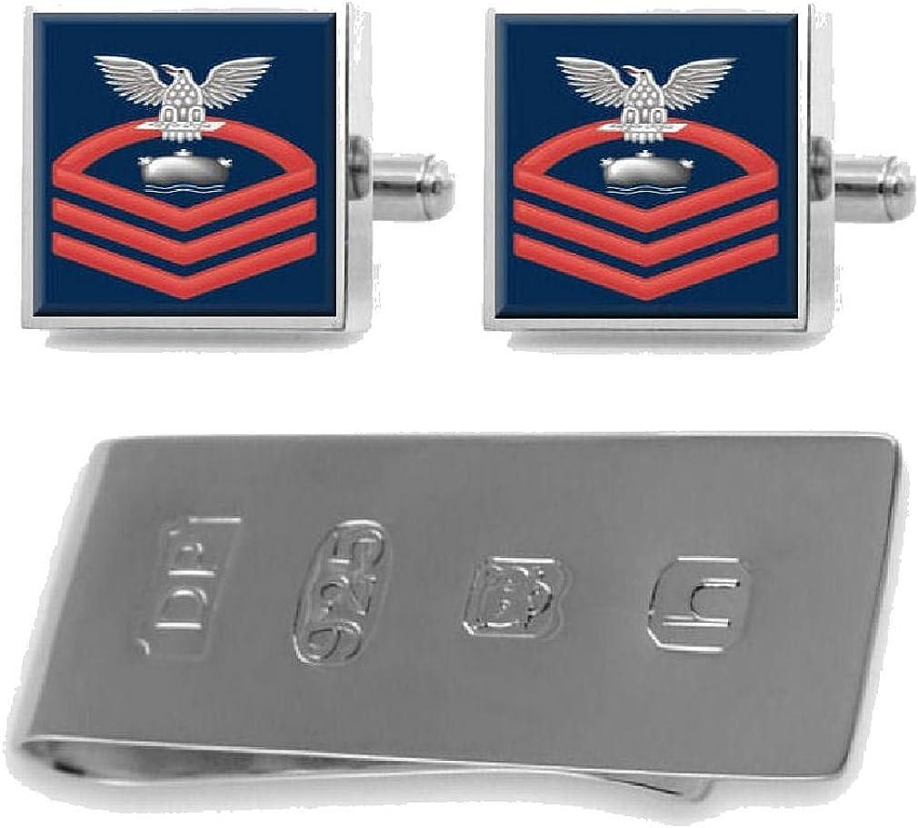 Select Gifts Minnesota Flag Cufflinks /& James Bond Money Clip