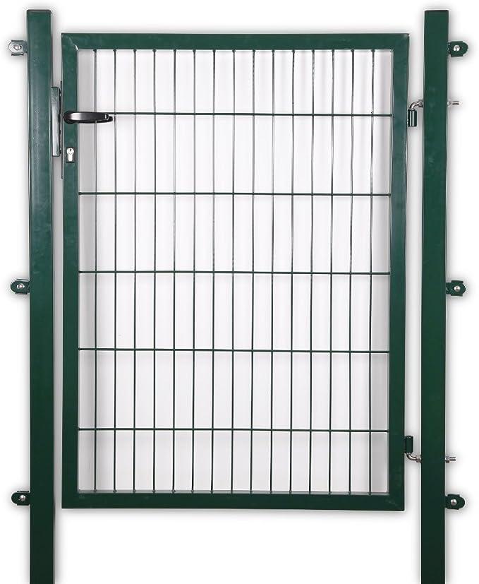 Puerta para jardín de 100 x 80 cm Verde/Antracita hoftor Valla Puerta para vallas jardín valla, Grün RAL 6005: Amazon.es: Jardín