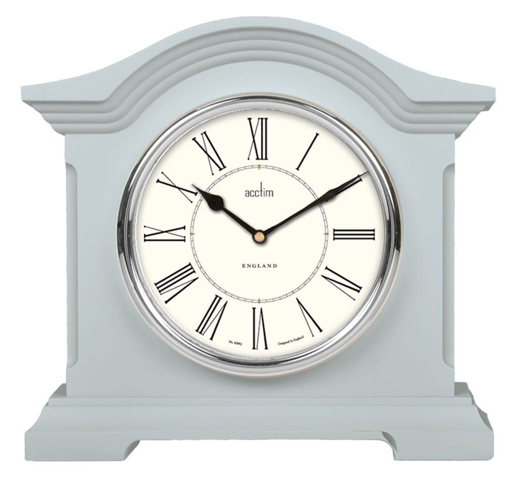 Acctim 33799 Cliffburn Mantel Clock in Soft Blue