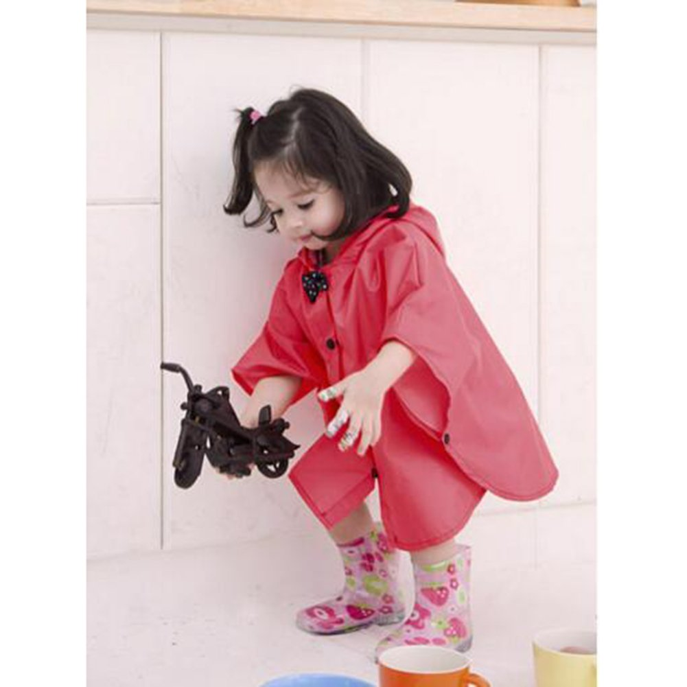 Juleya 2017 Principessa Bow Bambini Poncho Spesso Nylon Bambini Raincoat