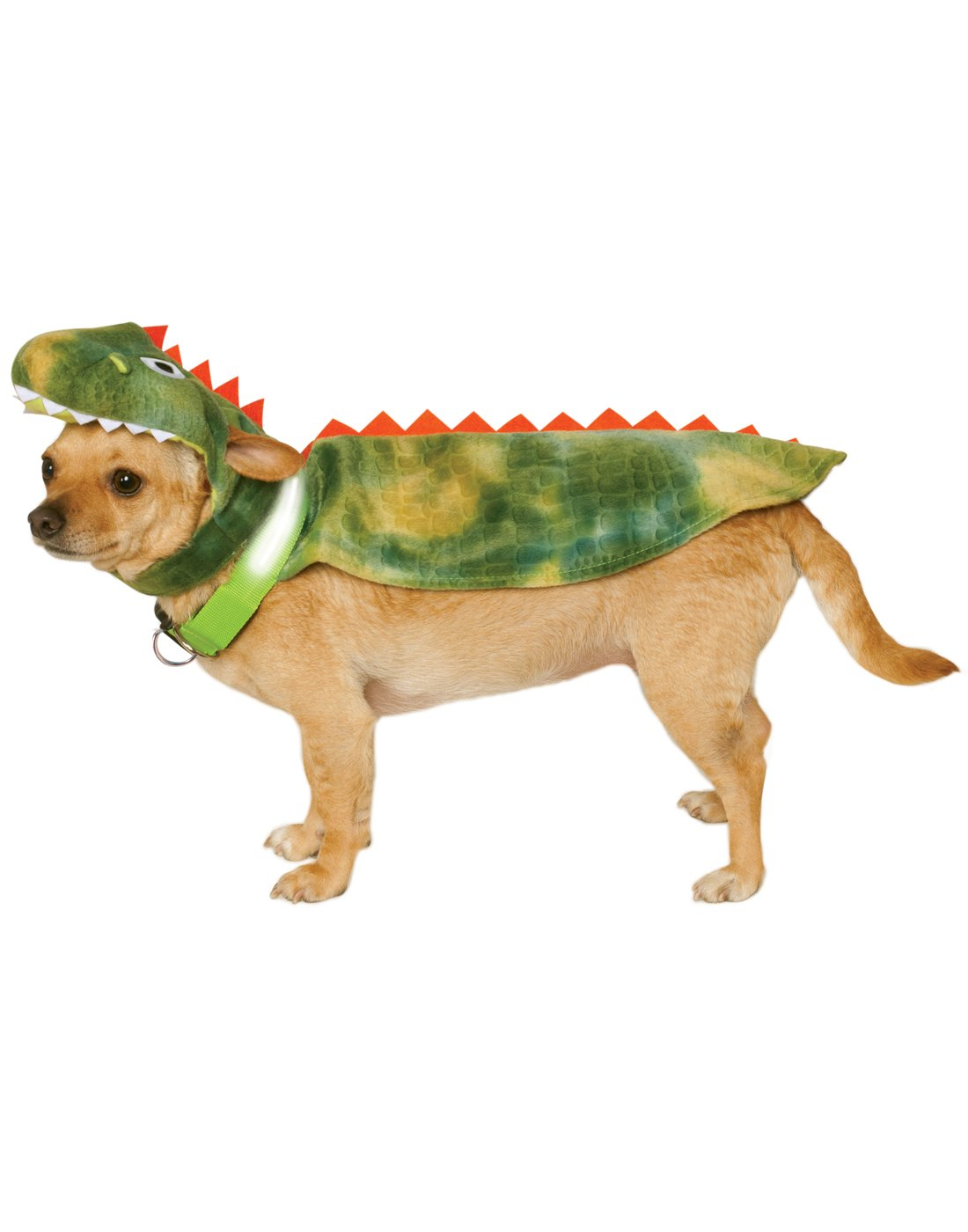 Rubie's Dinosaur Cape with Headpiece and Light-Up Collar Pet Costume, Small