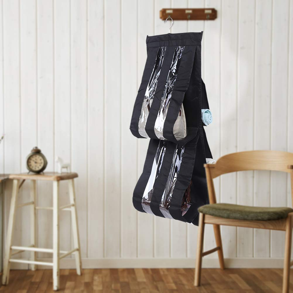 Schrank mit 5 F/ächern Platzsparender Organizer H/ängende Aufbewahrungstasche Handtaschenhalter Grau Sugoyi Aufbewahrungstasche