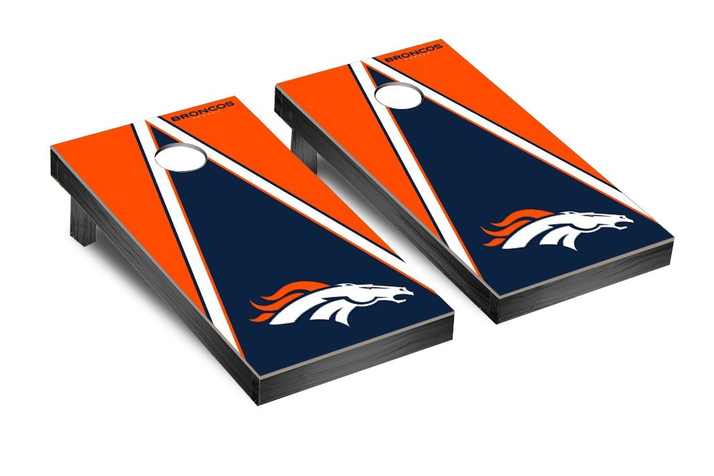 NFL Denver Broncos Triangle Version Football Corn hole Game Set, One Size