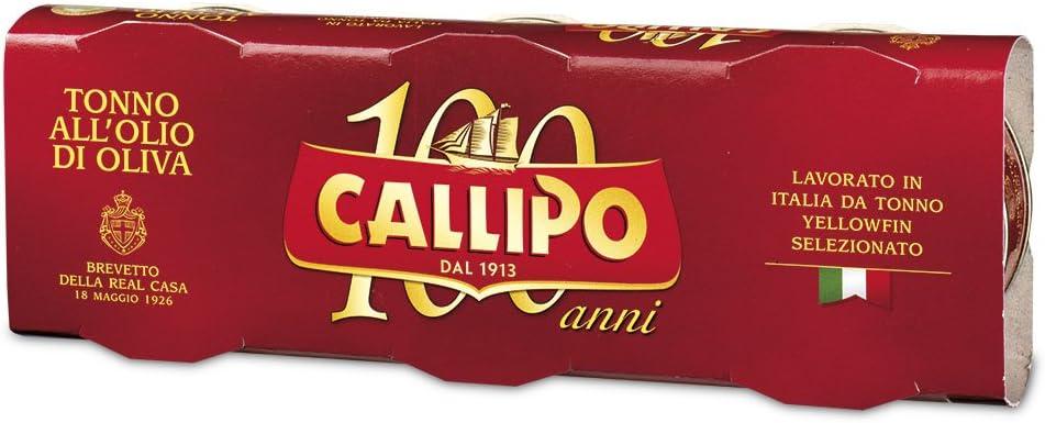Callipo Tonno all'Olio di Oliva - 3 x 80 gr - Totale: 240 gr